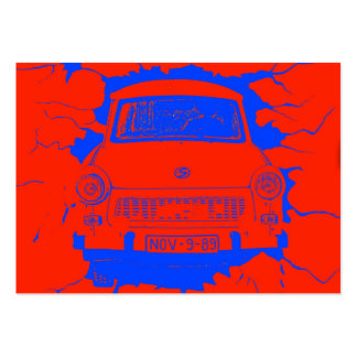 Trabant Car and Red/Blue Berlin Wall Large Business Cards (Pack Of 100)