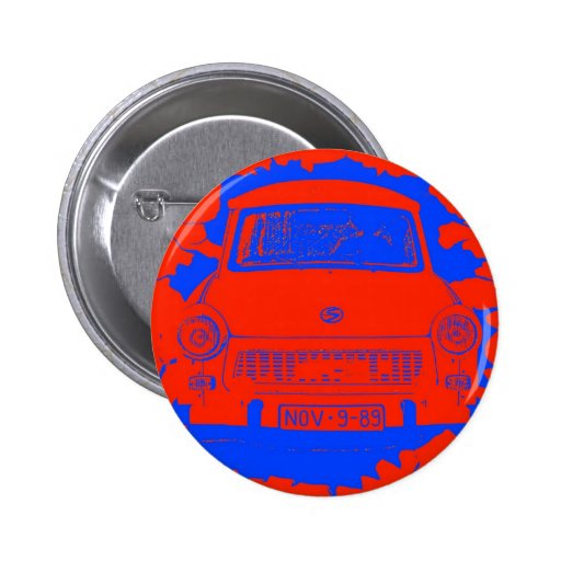 Trabant Car and Red/Blue Berlin Wall Pin