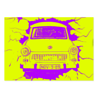 Trabant Car and Yellow/Purple Berlin Wall Large Business Cards (Pack Of 100)
