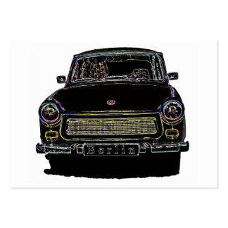 Trabant Car , Black Outlined, Front View Large Business Cards (Pack Of 100)