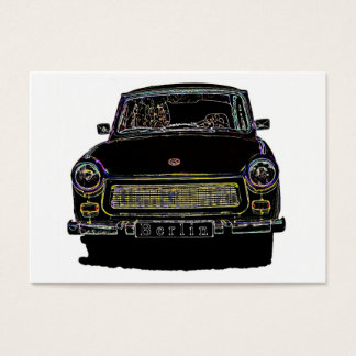 Trabant Car , Black Outlined, Front View Business Card