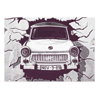 Trabant Car , Black & White, Berlin Wall (1) Large Business Cards (Pack Of 100)
