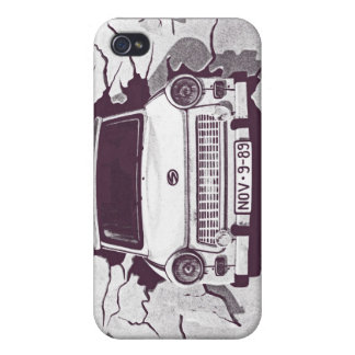 Trabant Car , Black & White, Berlin Wall (1) iPhone 4 Cover