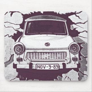 Trabant Car , Black & White, Berlin Wall (1) Mouse Pad