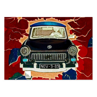 Trabant Car , Browns and Reds, Berlin Wall Large Business Cards (Pack Of 100)