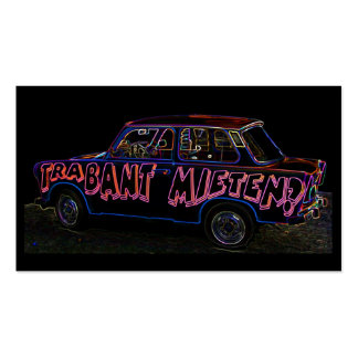 Trabant Car for Rent(Mieten),Black Back Double-Sided Standard Business Cards (Pack Of 100)