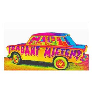Trabant Car for Rent(Mieten),Rainbow,White Back Double-Sided Standard Business Cards (Pack Of 100)