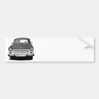 Trabant Car Front, Black and White,  Berlin Bumper Sticker
