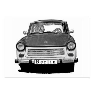 Trabant Car Front, Black and White,  Berlin Large Business Cards (Pack Of 100)