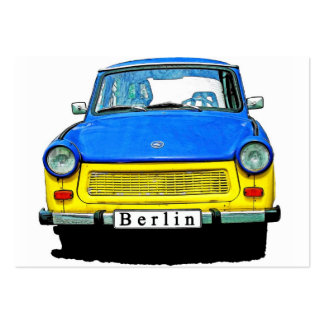 Trabant Car Front, Blue & Yellow,  Berlin Large Business Cards (Pack Of 100)