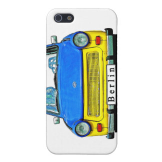 Trabant Car Front, Blue & Yellow, Berlin iPhone SE/5/5s Cover