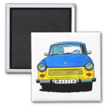 Trabant Car Front, Blue & Yellow,  Berlin Refrigerator Magnets