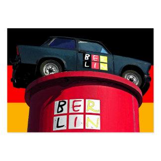 Trabant Car , German Flag, Berlin Logo Large Business Cards (Pack Of 100)