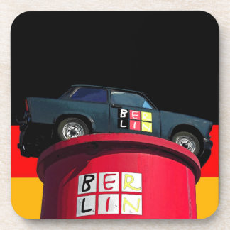 Trabant Car , German Flag, Berlin Logo Coasters