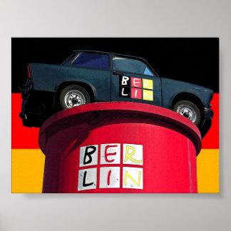 Trabant Car German Flag Berlin Posters