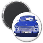 Trabant Car in Blue, Berlin 2 Inch Round Magnet