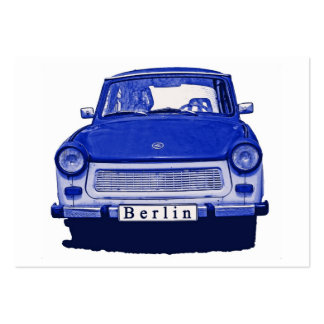 Trabant Car in Blue, Berlin Large Business Cards (Pack Of 100)