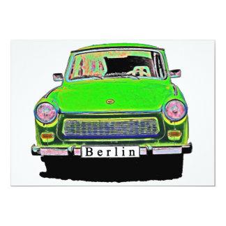 Trabant Car in Green, Berlin 5x7 Paper Invitation Card