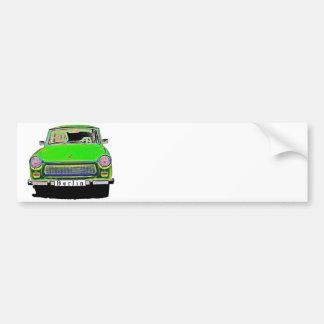 Trabant Car in Green, Berlin Bumper Sticker