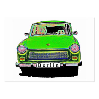 Trabant Car in Green, Berlin Large Business Cards (Pack Of 100)