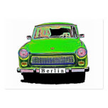 Trabant Car in Green, Berlin Business Cards