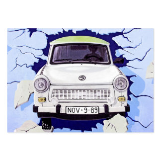 Trabant Car , Pale Blue, Berlin Wall Large Business Cards (Pack Of 100)
