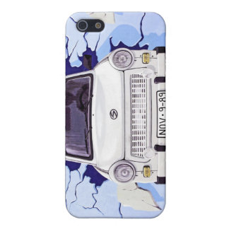 Trabant Car , Pale Blue, Berlin Wall iPhone SE/5/5s Case