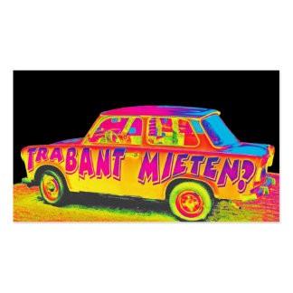 Trabant Car , Raibow Effect, Black Back, Berlin Double-Sided Standard Business Cards (Pack Of 100)