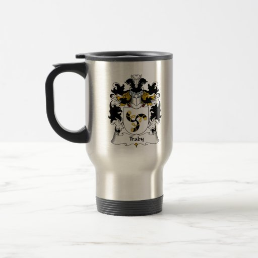Traby Family Crest 15 Oz Stainless Steel Travel Mug
