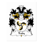 Traby Family Crest Post Card