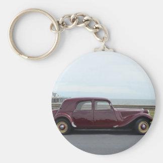 Tracción Avant de Citroen del vintage Llavero Redondo Tipo Pin