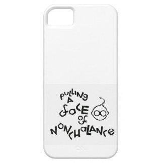 Tracción de una cara de la indiferencia iPhone 5 Case-Mate cárcasas
