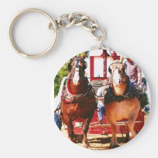 tracción del caballo de proyecto llavero redondo tipo pin