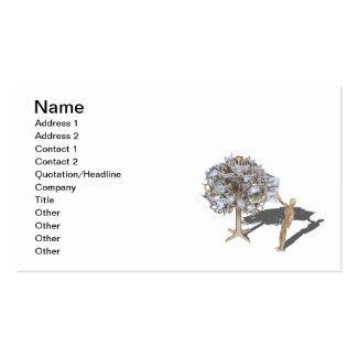 Tracción del dinero del árbol del dinero tarjetas de visita