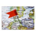 Trace el perno colocado en Berlín, Alemania en map Tarjeta