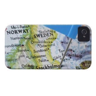 Trace el perno colocado en Estocolmo, Suecia en iPhone 4 Case-Mate Cárcasa