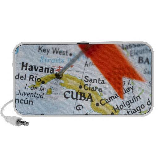 Trace el perno colocado en La Habana, Cuba en el m Mini Altavoces