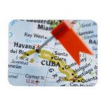 Trace el perno colocado en La Habana, Cuba en el m Imán