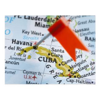 Trace el perno colocado en La Habana, Cuba en el m Tarjeta Postal
