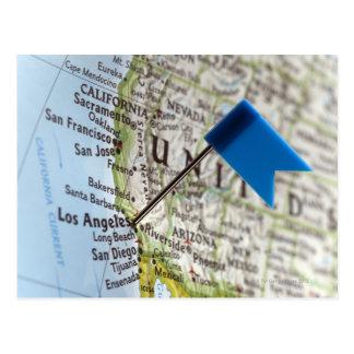 Trace el perno colocado en Los Ángeles California Tarjeta Postal