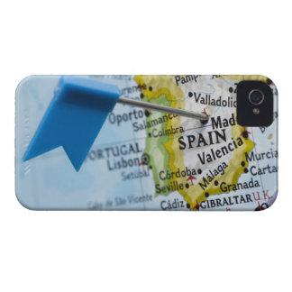 Trace el perno colocado en Madrid, España en el iPhone 4 Case-Mate Carcasa