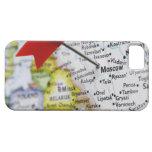 Trace el perno colocado en Moscú, Rusia en mapa, iPhone 5 Carcasa