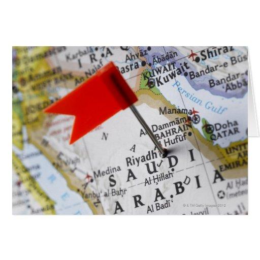Trace el perno colocado en Riad, la Arabia Saudita Tarjeta