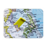 Trace el perno colocado en Tokio, Japón en el mapa Imán De Vinilo