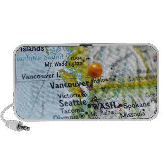 Trace el perno colocado en Vancouver, Canadá en ma iPod Altavoz