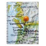 Trace el perno colocado en Vancouver, Canadá en ma Libros De Apuntes Con Espiral