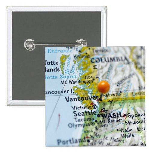 Trace el perno colocado en Vancouver, Canadá en ma Pin Cuadrada 5 Cm