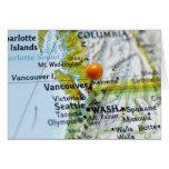 Trace el perno colocado en Vancouver, Canadá en ma Tarjeta De Felicitación