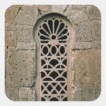 Tracery de la ventana, de la basílica San Juan Pegatina Cuadrada