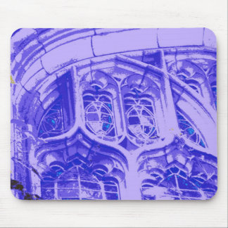 Tracery in Purple at Bond Chapel Mouse Pad